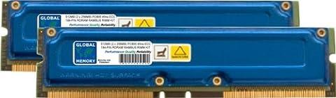 512MB (2 x 256MB) RAMBUS PC800 184-PIN ECC RDRAM RIMM MEMORY RAM KIT FOR WORKSTATIONS/MOTHERBOARDS