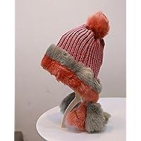 Wenxin0815 Hat Frau Winter Ohr Winddicht Cap Doppelt Dicke Warme Mütze Mütze, Pink, 02.