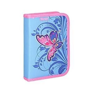 Spirit Foldersys - Estuche Escolar con Cremallera (50 Unidades), diseño de Mariposas, Color Rosa