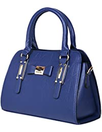Prepoy Trendsetter Exclusive Imported Leather Ette Hand Bag For Womens Hand Bag (Blue) - B076H4QH7J