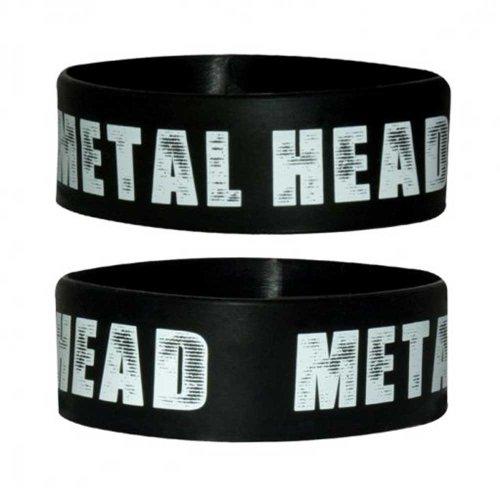 Fun - Metal Head - Braccialetto in silicone - Wristbands - Larghezza: 24mm, Diametro: 65mm, Spessore: 1mm