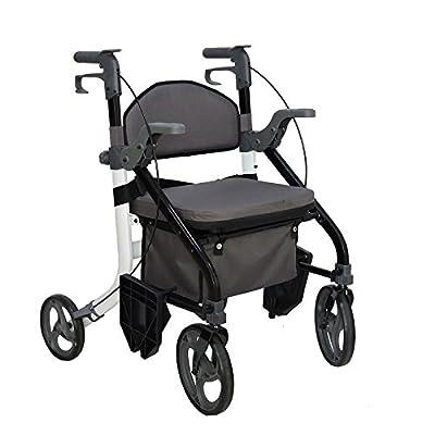 Elite Care Fusion 2 in 1 walker wheelchair combination rollator walking aid