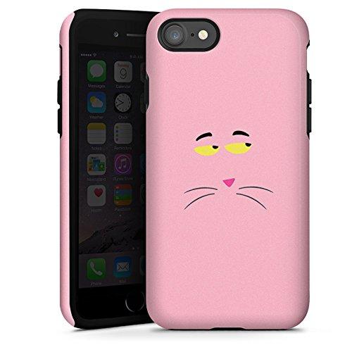 Apple iPhone X Silikon Hülle Case Schutzhülle Pink Panther Katze Cat Tough Case glänzend