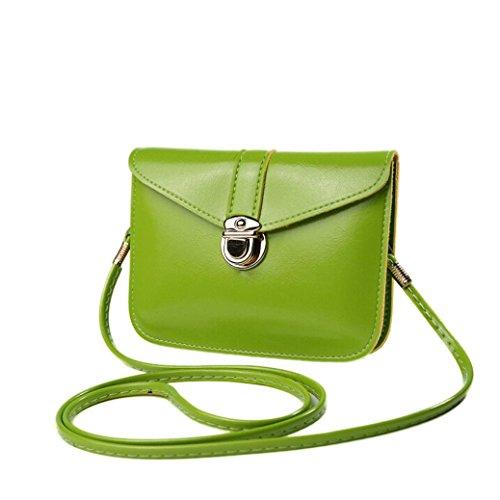 Einzel-schulter Frauen-handtaschen (Ouneed® Art und Weise null Geldbeutel Beutel Handtaschen Einzel Schulter Kurier Telefon Beutel (Grün))