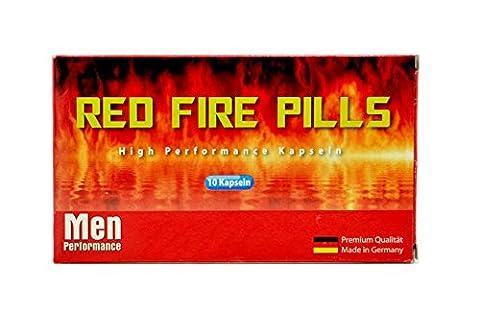 Red Fire Pills 10 Männer Kapseln I Männer-Stärkungs-Mittel I natürliches und rezeptfreies Präparat für den Mann I 100% Pflanzlich I Für Lust, Liebe, Leidenschaft und mehr … für mehr Spaß in der Beziehung
