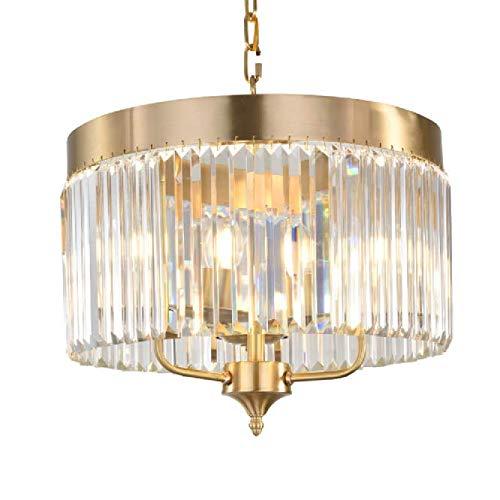 Qiaobaba Nordic Glas Deckenleuchte Led Deckenleuchte Esszimmer Glas Pendelleuchte Einfache Kristalllampe Im Schlafzimmer Hotel,Long45cm