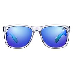 8f72f81cf4e Tom Martin UV-400 Protected Sunglasses -Hawaii- New Wayfarer- Clear  (Mirrored
