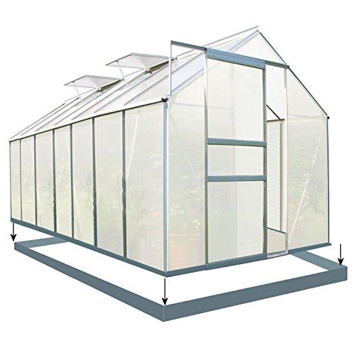Zelsius - Set: 8,2 m² Aluminium Gewächshaus + Fundament, 430 cm x...