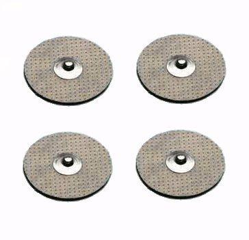 4 Elettrodi adesivi rotondi diametro 3cm con clip standard 4mm