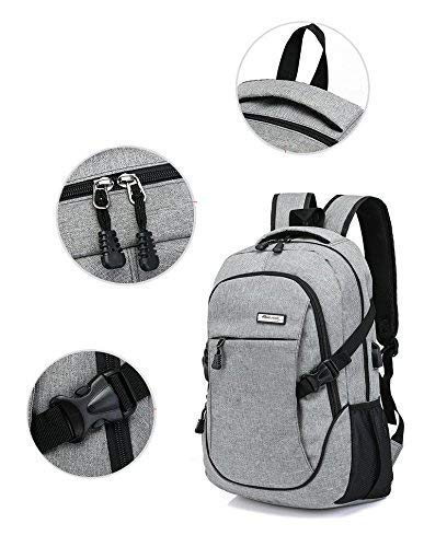 Best supreme backpack in India 2020 Elegance Canvas Material School Backpack & Laptop Backpack with USB Charging Port Image 5
