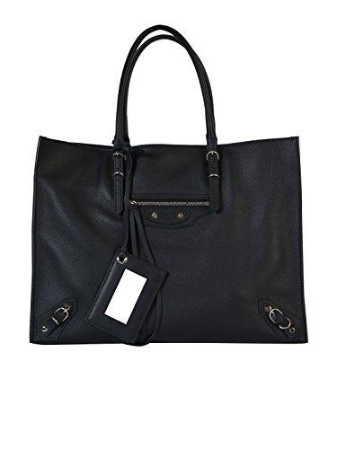 balenciaga-damen-432596dlq0n1000-schwarz-leder-tote