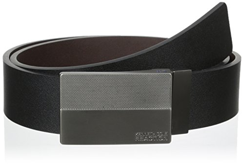 Kenneth Cole REACTION Men's 1 3/8 in. Flat Reversible Textered Plaque Belt