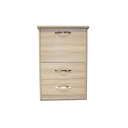 Webmarketpoint mobile asse stiro olmo in legno nobilitato con 3 cassetti cm 44x57xh.89
