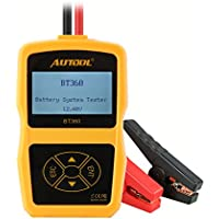 AUTOOL 12V Battery System Tester Health Checker, Charging Analyzer for Cars, BT360