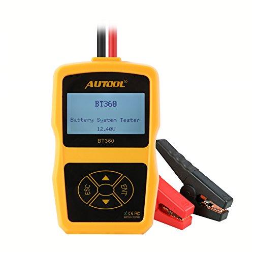 AUTOOL Upgraded 12V KFZ Batterie Tester Batteriestatus Prüfgerät Startstrommessgerät CCA 100-2400 Kaltstartverstärker für für AGM und Gel-Batterien, Auto Startstrom und Ladestatus Diagnosegerät für alle Autos und Trucks
