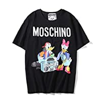 moschino Black Round Neck T-Shirt For Women