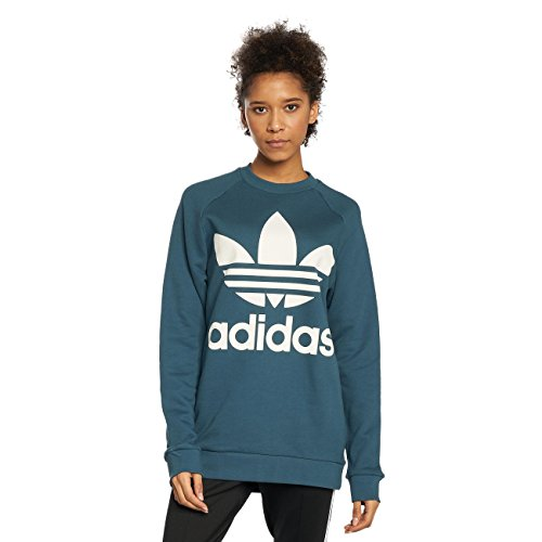 Adidas Oversize, Felpa Donna, Blu