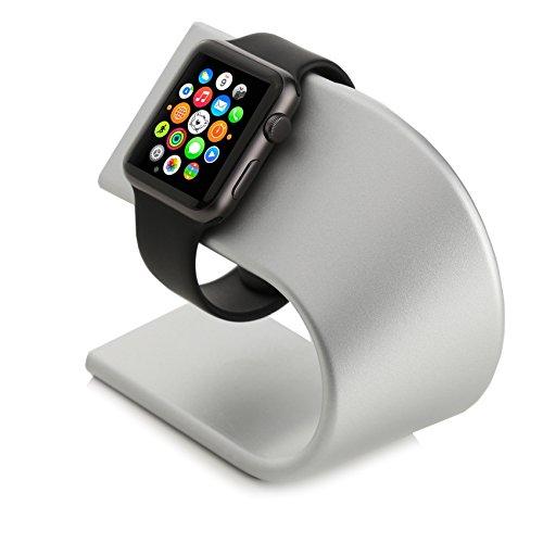 Arktis Apple Watch Ladestation Alu Ständer Halterung Tischständer silber