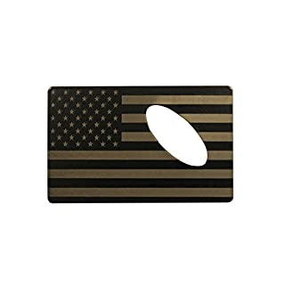 American Flag Bottle Opener Made From Credit Card Size Laser Etched Steel