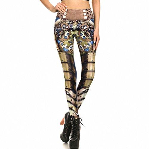 Polainas mujeres leggin Steampunk mecánica de impresión 3D Cosplay pantalones GTKDK XL1003