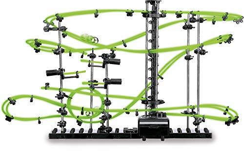 """Kugelbahn """"Venus"""", mit Neon-Effekt leuchtet die Murmelbahn im Dunkeln, inkl. Eisenkugeln, ab 15 Jahren"""