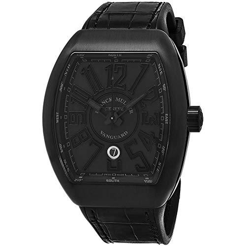 Franck Muller Vanguard Herren-Armbanduhr Armband Leder Automatik 45SCBLKBLKBLK