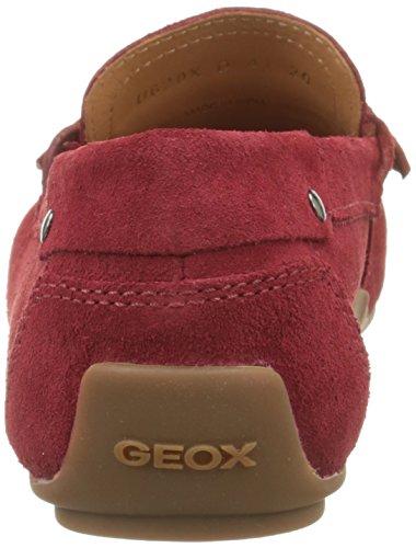 GeoxU Giona D, Mocassini Uomo Rosso (Redc7000)