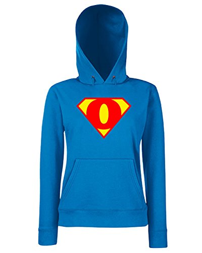 T-Shirtshock - Sweats a capuche Femme T0665 O SUPERMAN fun cool geek Bleu Royal