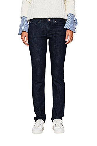 edc by ESPRIT Damen Straight Jeans 107CC1B034 Blau (Blue Rinse 900), W27/L32 (Jeans Washed Straight Leg)