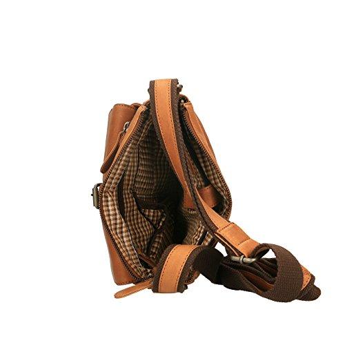 Chicca Borse Luxury Pouch Borsello da Uomo a Spalla in Vera Pelle - 24x28x9 Cm Cuoio