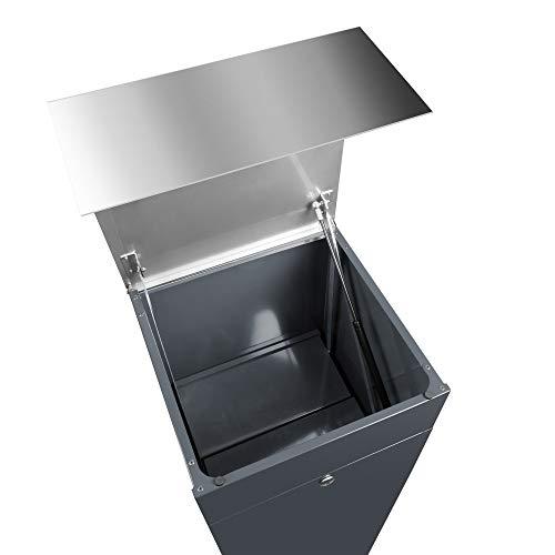 frabox Design Paketkasten Namur anthrazit/edelstahl - 5