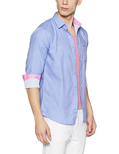 d1dab48b39f This Allen Solly light blue solid full sleeves shirt is 100% cotton to  ensure our trademark comport. This solid shirts has a contrast logo on the  chest.