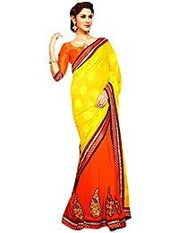 Ethnic Bliss Lifestyles Brocade & Georgette Saree (Ebl-Hvsr-A26_Multi-Coloured)