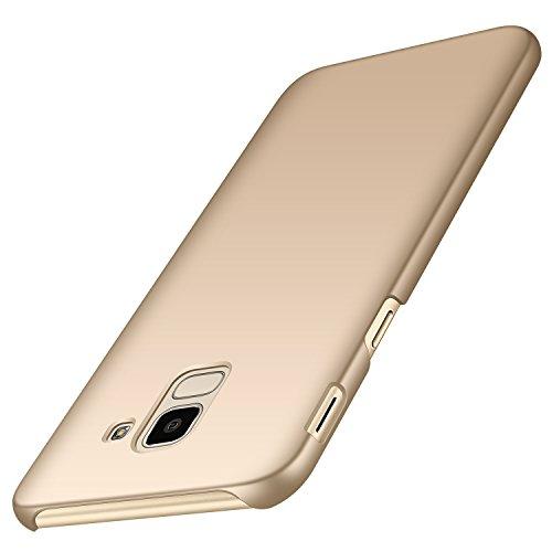 anccer Serie Matte für Samsung Galaxy J6 2018 Hülle, Elastische Schockabsorption und Ultra Thin Design (Glattes Gold)