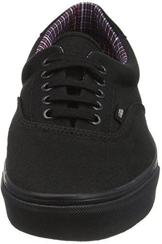 Vans Unisex-Erwachsene Era 59 Low-Top Schwarz (Cord & Plaid black/black)