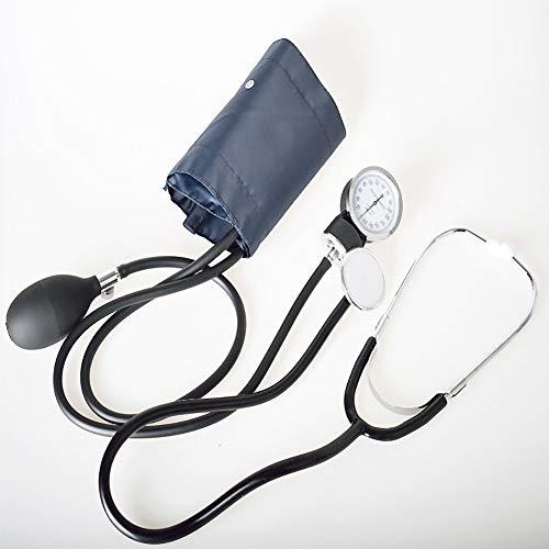 SUN RDPP Oberarm- Blutdruckmessgerät Manuell mit Stethoskoparm-Blutdruckmessgerät Hören Fötales Herz Doppelschlauch-Doppelkopf-Stethoskop Medizinisch für die Gesundheitsüberwachung
