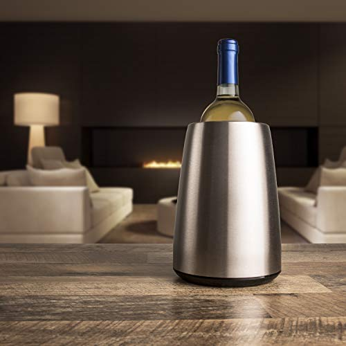 Vacu Vin - 3649360 - Aktiv Weinkühler Elegant Edelstahl