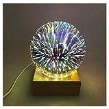 3D Iluminación infantil nocturna Novedad Magic Ball 3D LED luz de la noche Starry Sky lámpara de mesa luces de escritorio USb fiesta de cumpleaños regalo de Navidad lámparas decoración (color : B)