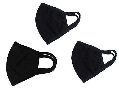 3 Set Erwachsene Staubschutz, Mundschutz, Outdoor Staub Maske 3er Set waschbar Anti Fog Anti Dust Gesicht Mund Warm Maske Antibakterielle ()