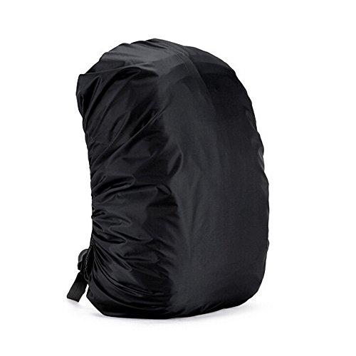 Wasserdichter Rucksackcover, Premium Camping Wandern Rucksack Cover Regenhüllen wasserdicht für Outdoor Aktivitäten (Größe: 35L), Schwarz