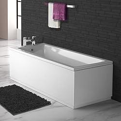 1600 x 700 Small Designer Square Single Ended Bath Straight Bathroom Bathtub
