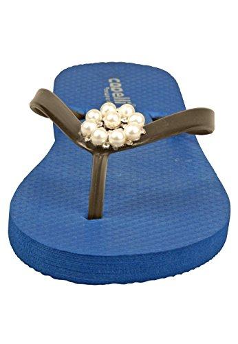 Capelli New York Zehentrenner 'WHITE PEARLS' Blue