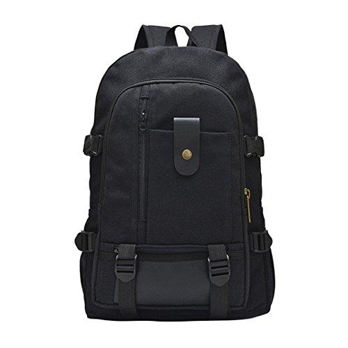 Rucksack große Kapazität Freizeit Reise Farbe Leinwand Student Tasche -