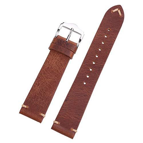 Hochwertige Öl-Wachs-Design Lederarmband Echte Kalbsleder Armbanduhren Armbanduhrenarmbänder 18mm Uhrenarmband Genitalsit-Watchstrap-Lins2636 Herren 20mm 22mm -