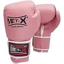 MET-x - Guantes de boxeo para mujer, diseño vintage, 283,5 g, color rosa