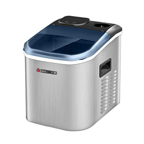 Countertop Large Clear Ice Maker Machine, Automatische Wasseraufnahme, Ergibt 25 Kg Eis Pro 24 Stunden | Edelstahl | Stellt Quadratisches Eis Her | Herausnehmbarer Korb (Maker Machine Ice 220v)