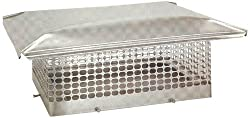 The Forever Cap CCSS1818 17 x 17-Inch Stainless Steel 5/8-Inch Spark Arrestor Mesh Chimney Cap
