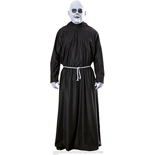 ADULT MENS UNCLE FESTER THE ADAMS FAMILY HALLOWEEN FANCY DRESS COSTUME ALL (Uk Schwarz Adam Kostüm)