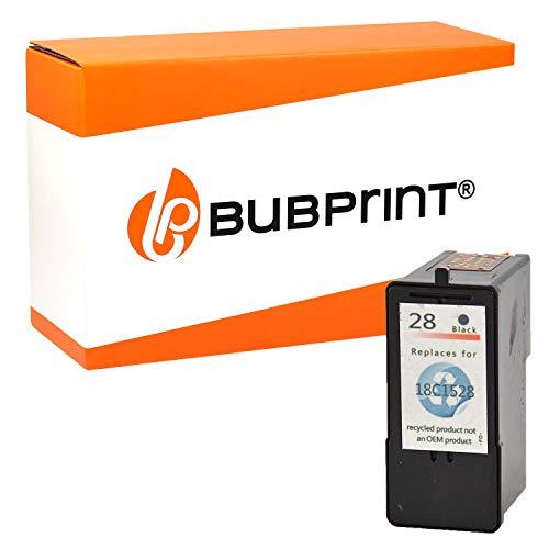Bubprint Druckerpatrone kompatibel für Lexmark 28 XL 18C1428E für X2500 X2510 X2520 X2530 X2550 X5070 X5490 X5495 Z1300 Z1310 Z1320 Z1350 Z845 Schwarz - 28 Tintenpatrone Lexmark