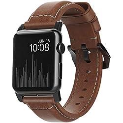 Nomad Tradicional Horween Correa de Piel para Apple Reloj 42mm–Negro